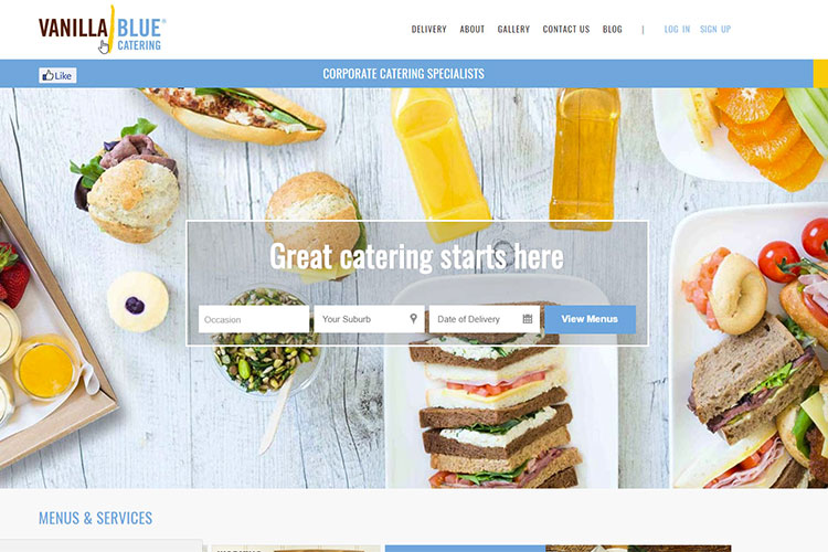 Vanilla Blue Catering Moves All Sites to Hosted Environment